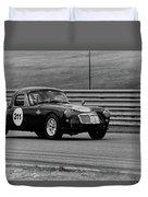Vintage Mg On Track Duvet Cover