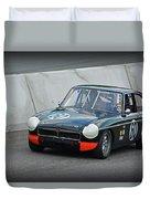 Vintage Mg Race Car Duvet Cover