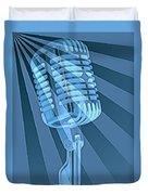 Vintage Microphone Pop Art Duvet Cover