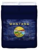 Vintage Montana Flag Duvet Cover