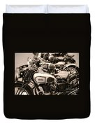 Vintage Motorcycles Duvet Cover