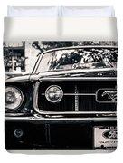Vintage Mustang Duvet Cover