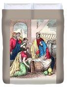 Vintage Nativity Scene Duvet Cover