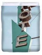 Vintage Neon Sign Hotel Livingston Montana Duvet Cover