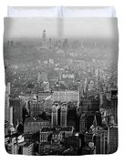 Vintage New York City Panorama 1930 Duvet Cover