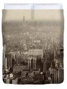 Vintage New York City Panorama Duvet Cover