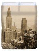 Vintage New York City Skyline Photograph - 1935 Duvet Cover