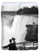Vintage Niagara Falls - View From Goat Island - 1908 Duvet Cover