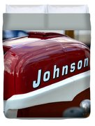 Vintage Johnson Outboard Red  Duvet Cover