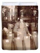 Vintage Paris Men's Fashion Duvet Cover
