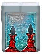 Vintage Paris Perfume Duvet Cover