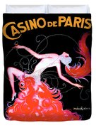 Vintage Paris Showgirl Duvet Cover