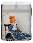 Vintage Peg Doll  Duvet Cover