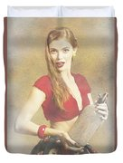 Vintage Perfume Advertisement Circa 2015 Duvet Cover