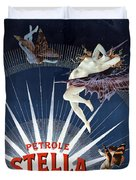 Vintage Petrole Stella Poster Duvet Cover