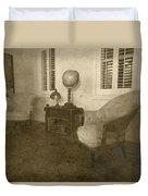 Vintage Photograph Farmhouse Interior Duvet Cover