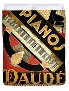 Vintage Piano Art Deco Duvet Cover