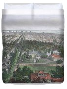 Vintage Pictorial Map Of Buffalo Ny - 1872 Duvet Cover