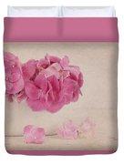 Vintage Pink Hydrangea Duvet Cover
