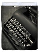 Vintage Portable Typewriter Duvet Cover