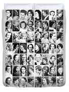 Vintage Portrait Photos Depict Womens Hairstyles Of The 1930s  - Doc Braham - All Rights Reserved. Duvet Cover