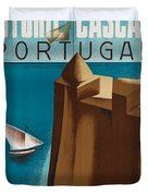 Vintage Portugal Travel Poster Duvet Cover