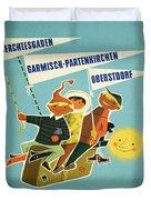 Vintage Poster - Bavarian Alps Duvet Cover