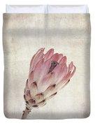Vintage Protea Flower Duvet Cover