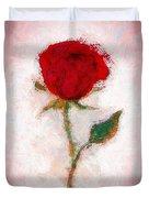 Vintage Red Rose  Duvet Cover