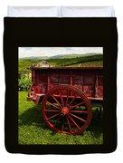 Vintage Red Wagon 2 Duvet Cover