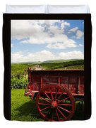 Vintage Red Wagon Duvet Cover