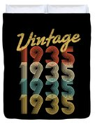 Vintage Retro Since 1935 Birthday Gift Duvet Cover