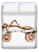Vintage Roller Skate Painting Duvet Cover