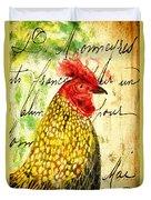 Vintage Rooster Portrait    Duvet Cover