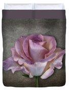 Vintage Rose On Gray Duvet Cover