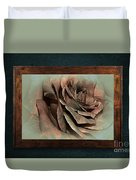 Vintage Rose On Old Wall 2 By Kaye Menner Duvet Cover