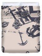 Vintage Sailing Art Duvet Cover
