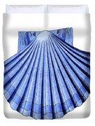 Vintage Scallop Shell Blue Duvet Cover