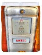 Vintage Shell Gas Pump Duvet Cover