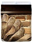 Vintage Shoe Forms Duvet Cover