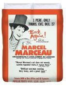 Vintage Show Poster Marcel Marceau Duvet Cover