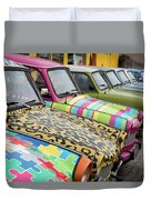 Vintage Small Cars Duvet Cover