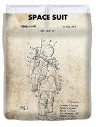 Vintage Space Suit Patent Duvet Cover