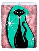 Vintage Sparkle Kitty Duvet Cover