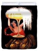 Vintage Sparkling Wine Advertisement Duvet Cover