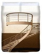 Vintage Stair 48 Escalera Caracol Helicoidal Duvet Cover