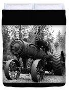 Vintage Steam Tractor Duvet Cover