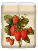 Vintage Strawberries Duvet Cover