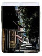 Vintage Street View Duvet Cover