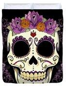 Vintage Sugar Skull And Roses Duvet Cover